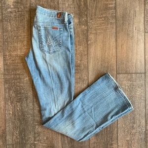 7 For All Mankind Crystal A-Pocket Flare/Boot Jean